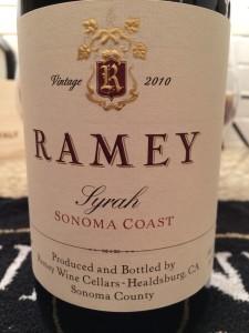 Ramey 2010 Syrah