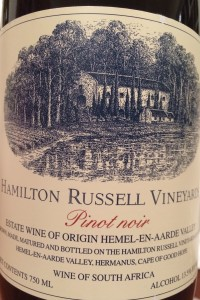 Hamilton Russell Vineyards Pinot