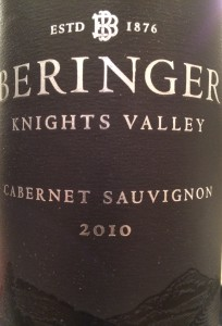 Beringer 2010 Knights Valley Cab