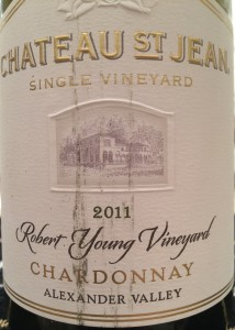 CH St Jean 2011 Robert Young Chard Alex Valley