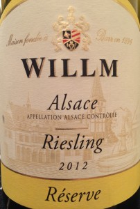 Willm 2012 Riesling Res