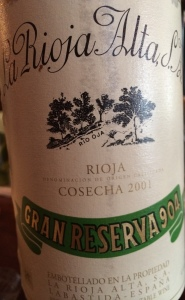 La Rioja Alta Rioja 904 Gran Reserva 2001