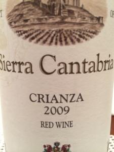 Sierra Cantabria 2009 Crianza