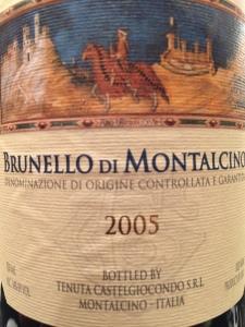 Brunello 2005 Castelgiocondo