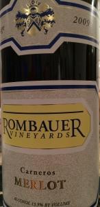Rombauer 2009 Merlot-1