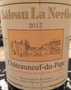 Ch La Nerthe 2013 Chateauneuf Blanc