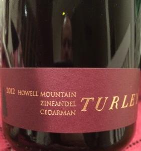 Turley 2012 Cedarman Zin