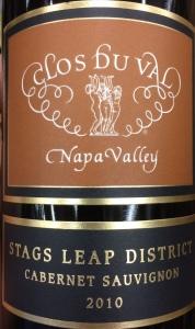 Clos Du Val 2010 Stags Leap Cab
