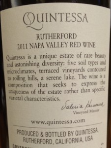 Quintessa 2011-Back