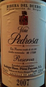 Pedrosa 2007 Reserva