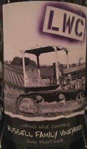 Loring 2010 Russell Family PinotN