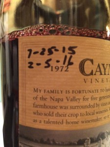 Caymus 2012 Cab-dates