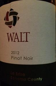 Walt 2012 LasBris Pinot
