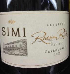 Simi 2013 reserve Chard