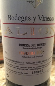 Bodegas Vinedos Alion 2008