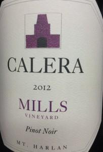 Calera Mills Pinot 2012