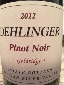 Dehlinger Pinot 2012 Goldridge