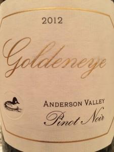 Goldeneye Pinot 2012