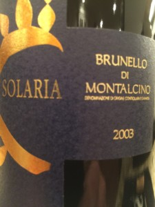 Solaria 2003 Brunello