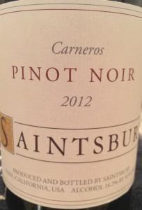 Saintsbury 2012 Pinot Carneros