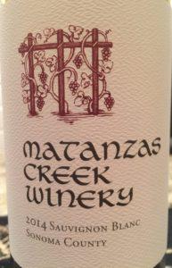 Matanzas Sauvignon Blanc 2014