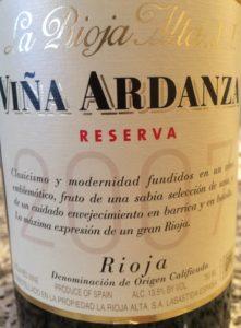 La Rioja Alta Vina Ardanza 2007
